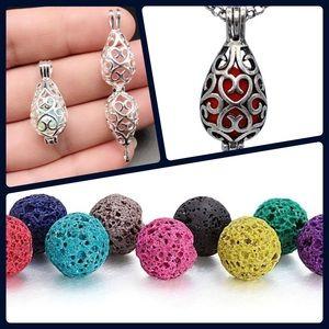 Jewelry - Lava stone diffuser necklace